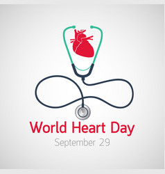 world heart day icon vector image vector image