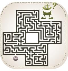 Monster maze vector image