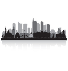 manila philippines city skyline silhouette vector image