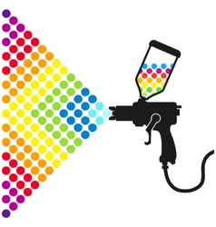 Paint spray gun vector