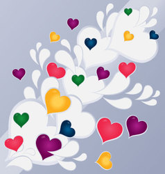 Hearts abstract background vector