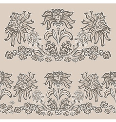 floral pattern seamless border vector image