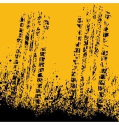 Yellow tire track vector