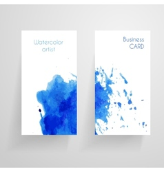 Watercolor cbusiness card template vector