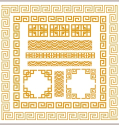 Chinese decorative frame vector