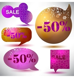 Christmas sale labels vector