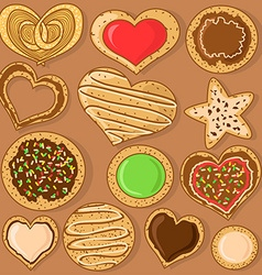 Set of isolated cookies vector