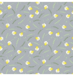 Seamless floral pattern with camomile vector