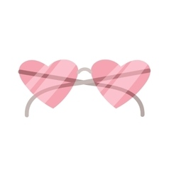 Fashion heart glasses vector