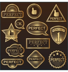 Gold labels perfect vector