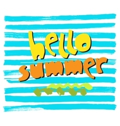 Phrase hello summer typography arttypography vector