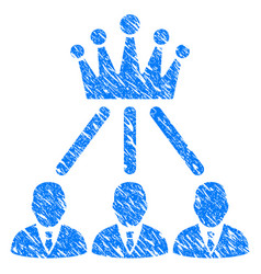 Administration crown grunge icon vector