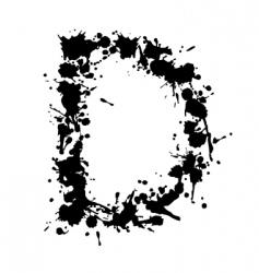 alphabet ink d vector image vector image