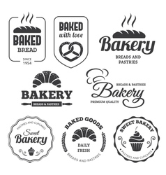 Bakery labels 2 vector image vector image