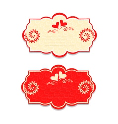 card for Valentines Day a template for writing vector image vector image