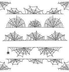 Halloween cobweb frame border and dividers vector
