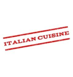Italian cuisine watermark stamp vector