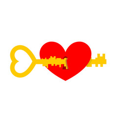 Key from heart for valentines day vector