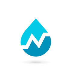 Letter n water drop logo icon design template vector