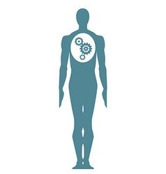 Male body icon vector