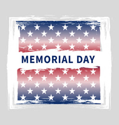 Memorial day vintage grunge poster vector