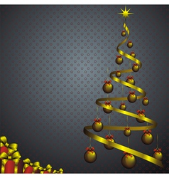 new year card with abstract fir and golden christm vector image vector image