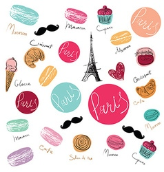 Paris background design vector image vector image