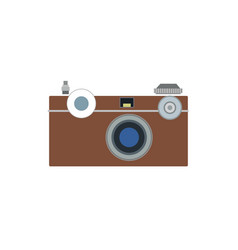 photo camera flat icon symbol photographer vector image vector image