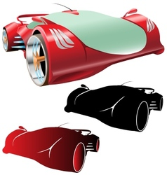 supercar concept and silhouettes vector image