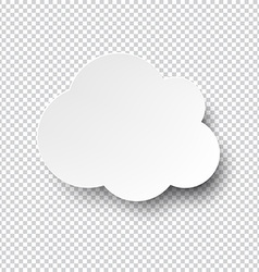 White cloud paper note with shadow vector image
