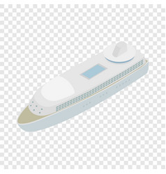 Yacht isometric icon vector