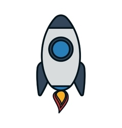 Rocket transportation vehicle travel icon vector