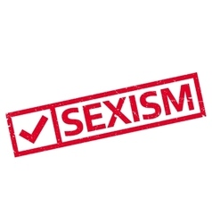 Sexism rubber stamp vector