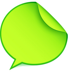 Green paper speech bubble sticker vector