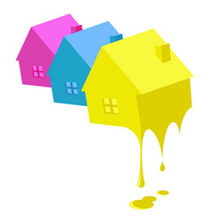Painting business houses vector