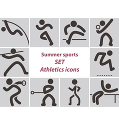 2278 set of athletics icons vector