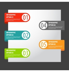 Set of modern infographics options tags vector