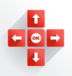 Navigation buttons vector