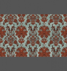 hand drawn damask pattern vector image