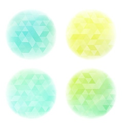 Smooth circles with triangles pattern vector