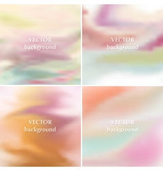 Smooth pastel romantic soft colors backgrounds vector