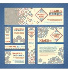 set of ethnic design templates vector image