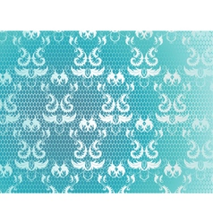 Blue background with lace vector