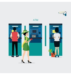 Atm cabinet vector