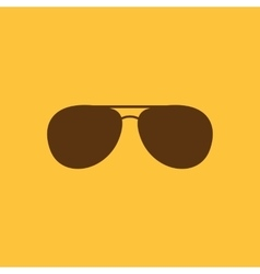 The sunglasses icon glasses symbol flat vector
