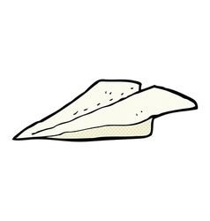 Comic cartoon paper airplane vector