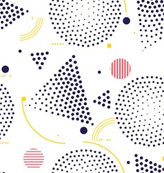 Seamless pattern universal repeating geometric vector