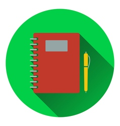 Flat design icon of exercise book in ui colors vector