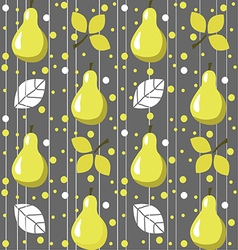 Pears seamless pattern vector