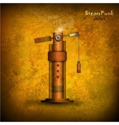 Steam punk letter vector